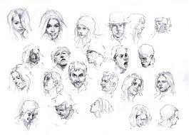 faces sketch study by silentjustice on deviantart