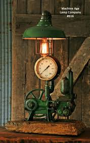 steampunk industrial steam gauge lamp well pump 616
