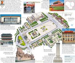 Beijing Map Beijing Map Tiananmen Square Walking Trip Itinerary Planner 3d