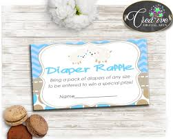 Raffle Tickets For Baby Shower Little Lamb Baby Shower Boy Diaper Raffle Insert Ticket Printable