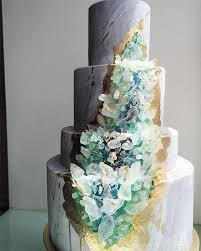 5 ways to rock the agate trend in your wedding wedding cake