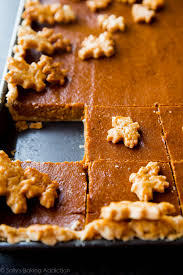 pumpkin slab pie feeds a crowd sallys baking addiction