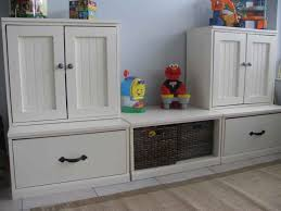 furniture joyful storage for toy room design with modern white
