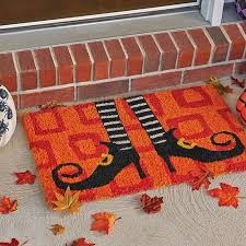 wicked witch shoes coir doormat halloween decor improvements catalog