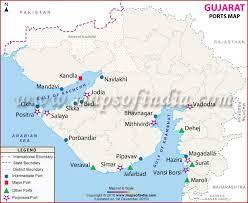 map port ports in gujarat