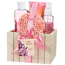 bath gift sets pink peony spa bath gift set box health personal care
