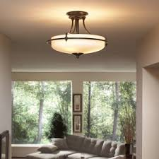 Quoizel Flush Mount Ceiling Light Quoizel Gf1717pn Griffin 3 Light Semi Flush Mount Palladian