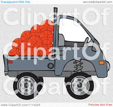 kei truck clipart kei truck with basketballs royalty free vector