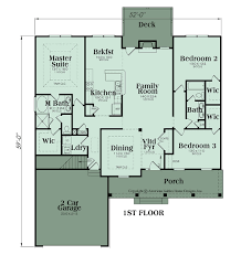 House Plan With Two Master Suites Ranch Plan 1870 Square Feet 3 Bedrooms 2 Bathrooms Abbey