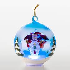 sorelle winter bundled snowman blown glass globe