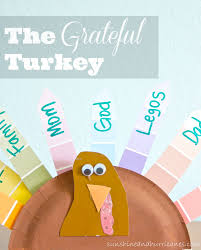 the grateful turkey thanksgiving gratitude craft