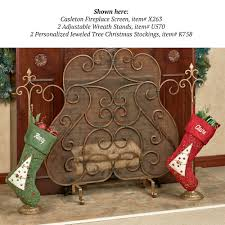 decor make awesome fireplace with alluring fireplace stocking