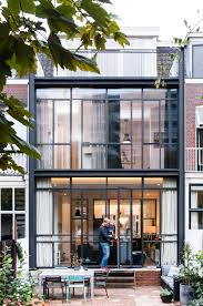 row home dutch design studio lab s has renovated a 30 u0027s row house in the
