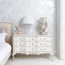 Romantic French Bedroom Decorating Ideas Delphine Distressed Shabby Chic Chest Of Drawers Hand Carved