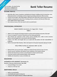 Resume Objective For A Bank Teller Bank Teller Resume Sample U0026 Writing Tips Resume Companion