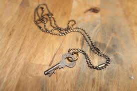 necklace clasps vintage images Vintage necklace rusty key on ball chain multiple clasps jpg