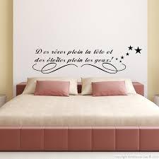 stickers chambre stickers muraux citations sticker des rêves plein la tête