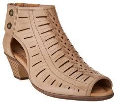 earth leather cut out heeled sandals vicki page 1 u2014 qvc com