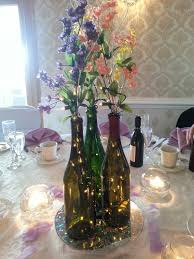 Wine Bottle Centerpieces Wedding Wine Bottle Table Centerpiece So Cute I Could Barf