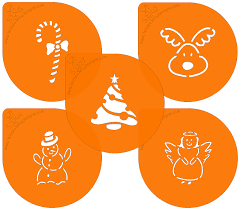 Christmas Cake Angel Decorations by Stencils Christmas Cake Decorating Stencil Wibblejelly Designs
