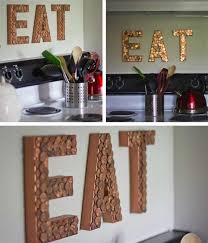 paper mache home decor loose change eat sign using cardboard paper mache letters copper