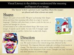 visual layout meaning how do pictures tell a story visual literacy is the ability to