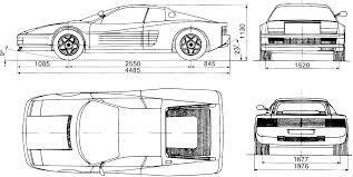 ferrari drawing ferrari testarossa 1984 blueprint download free blueprint for 3d