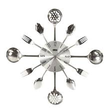 pendule murale cuisine horloge pendule murale design cuisine coutellerie ronde en metal