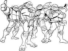 teenage mutant ninja turtles coloring page pictures of teenage