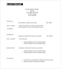resume format blank blank resume templates for free to fill infree