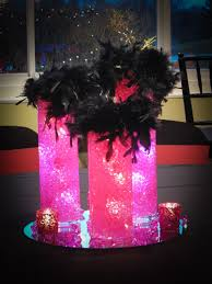Feather Vase Centerpieces by Sf Balloon Artistry