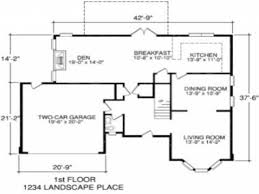 Garage Measurements Wonderful House Floor Plans With Measurements 3 Bedroom In Design