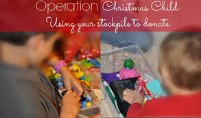 operation child using your stockpile to donate
