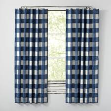 blue buffalo check curtain the land of nod