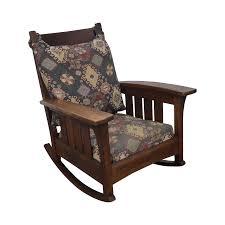 Mission Oak Rocking Chair L U0026jg Stickley Antique Mission Oak Bow Arm Rocker Chairish