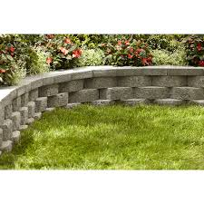 shop gray basic concrete retaining wall block common 12 in x 4
