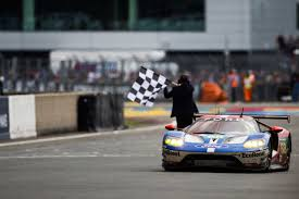Ford Racing Flag The Ford Gt Delivers Big At Le Mans