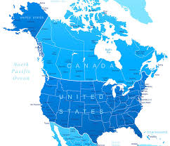 map of canada and usa united states map with canada major tourist attractions