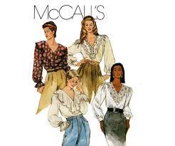 mccall u0027s 6750 womens steampunk romantic ruffled blouse pattern