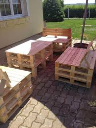 Outdoor Furniture Made From Wood Pallets Diy Pallet And Old Bed Garden Furniture