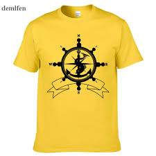 travel pirates images Fashion sea helm symbol anchor compass travel pirates t shirt men jpg