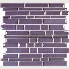 purple color crystal glass mosaic glass tiles for kitchen