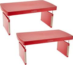 storemore set of 2 adjustable shelf risers page 1 u2014 qvc com