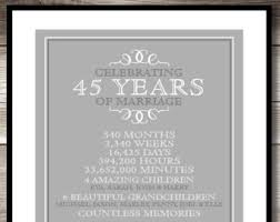45 year anniversary gift 45 years together etsy
