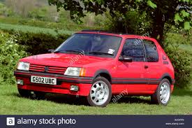 peugeot 205 peugeot 205 gti 1 9 1990 hatch car stock photo royalty free