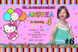 custom birthday invitations hello custom photo birthday party invitations bagvania