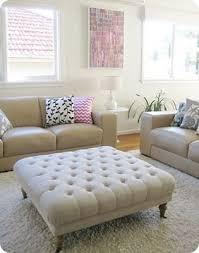 Large Ottoman Coffee Table Diy Tuft Ottoman Furniture Upholstery Diys Craft Projects