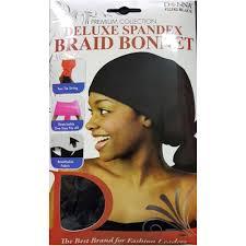 donna hair donna premium collection deluxe spandex braid bonnet 22182