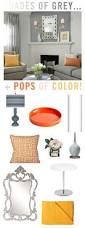 try a refreshing color combination orange grey and yellow
