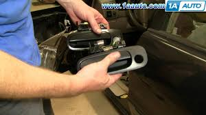 how to install replace broken exterior front door handle toyota